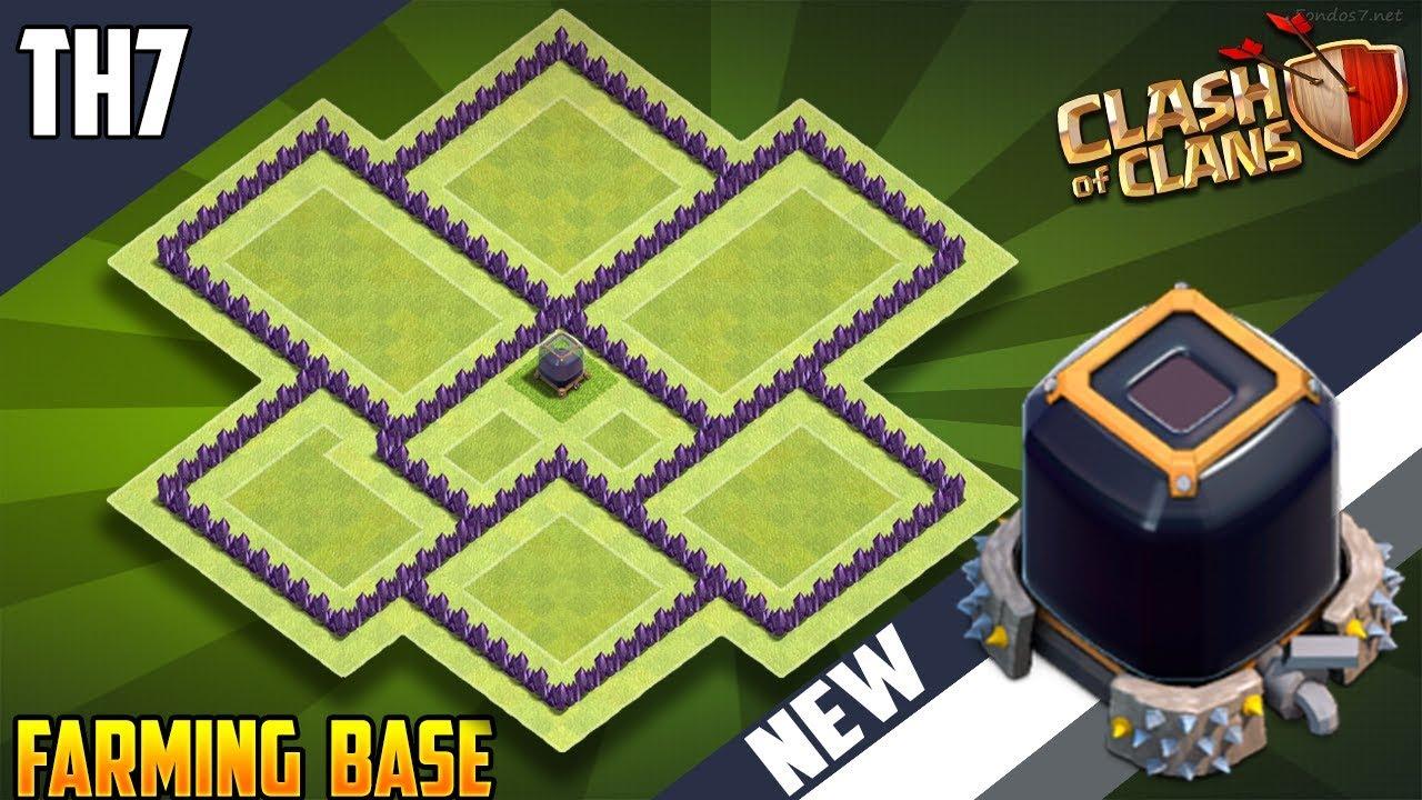 New Insane Town Hall 7 Th7 Dark Elixir Farming Base 2018 Coc