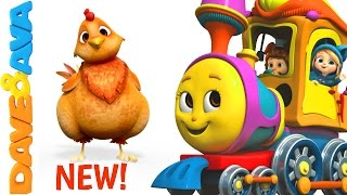 🐄 Farm Animals Train | Learn Farm Animals & Animal Sounds | Educational Videos from Dave and Ava 🐄