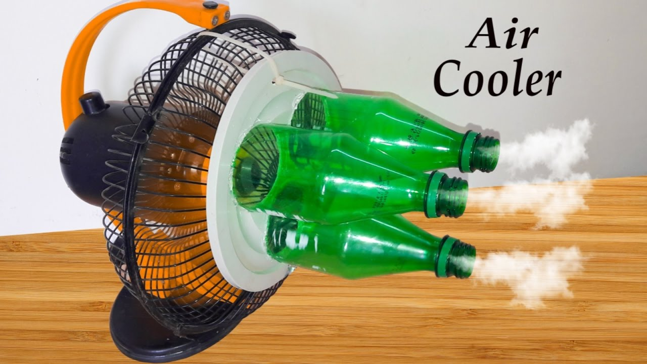 Air To Air Cooling : How to make air cooler eco using plastic bottle
