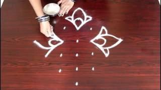 Video chukkala muggulu designs with 7 to 1 interlaced dots- kolam designs-  simple rangoli with dots download MP3, 3GP, MP4, WEBM, AVI, FLV Juli 2018