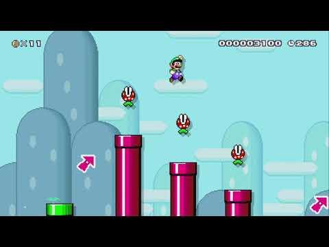 Woof 1-1: Slip n Slide by ???? - Super Mario Maker 2 - No Commentary