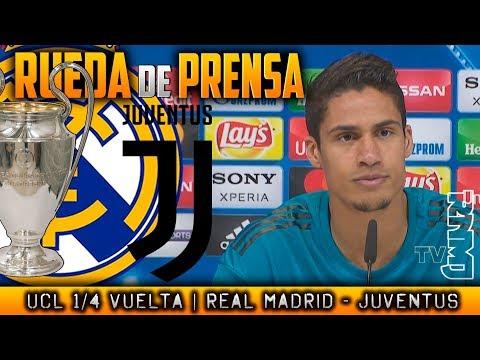 Real Madrid - Juventus Rueda de prensa de VARANE Previa Champions (10/04/2018)