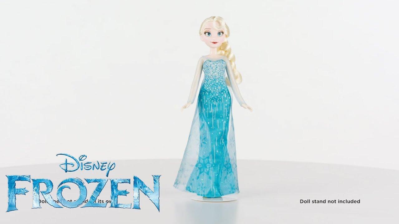 fb06a2bbcd Hasbro Brasil - Vídeo 360° Boneca Frozen Clássica Elsa - B5162 - YouTube