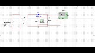 simulating half wave rectifier circuit on multisim