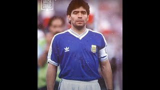 Maradona's CRAZY reaction during Argentina's national anthem in the 1990 WorldCup final | Oh My Goal
