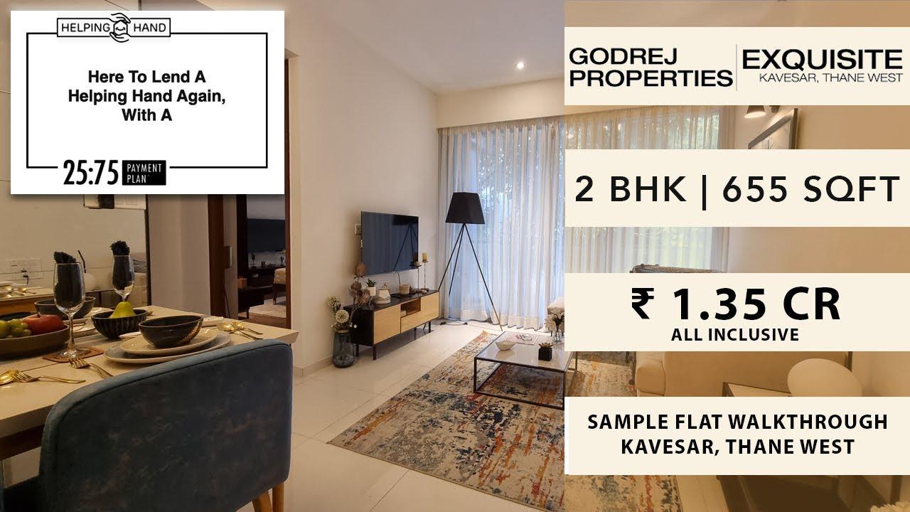 2 BHK Premium | 655 SqFt | Godrej Exquisite | Ghodbunder Road | Walkthrough | Thane Real Estate