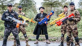 LTT Game Nerf War : Warriors SEAL X Nerf Guns Fight Criminal Group Black Man Wrecker Data