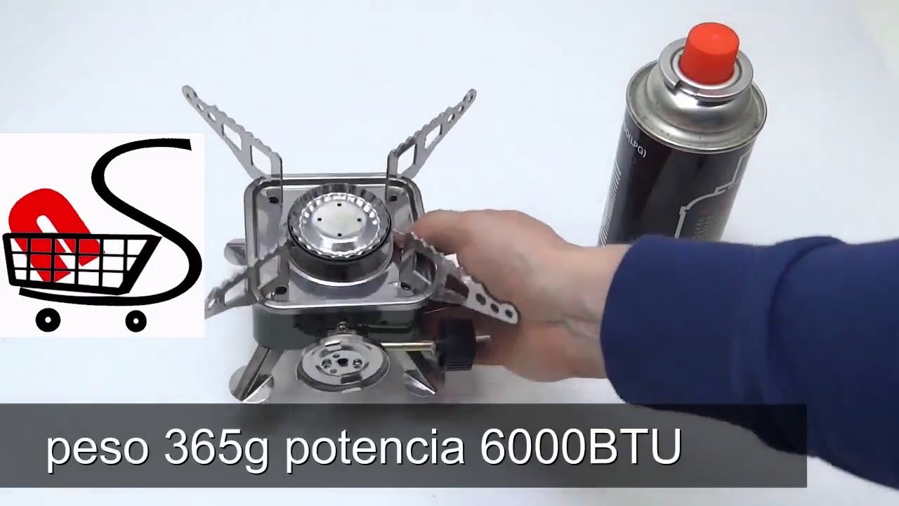 Anafe cocina portatil plegable para camping gas butano for Cocina de gas portatil