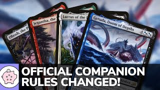 Official Companion Rules Changed   EDH   Commander Announcement   Magic the Gathering   Commander
