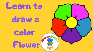 Coloring and Drawing Flower  | Funny drawings for children
