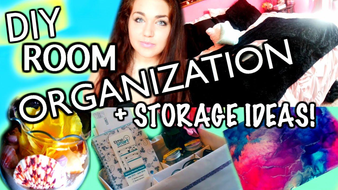 DIY Room Organization + Storage Ideas, DIY Room Decor For