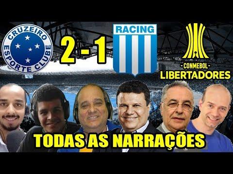Todas as narrações - Cruzeiro 2 x 1 Racing / Libertadores 2018