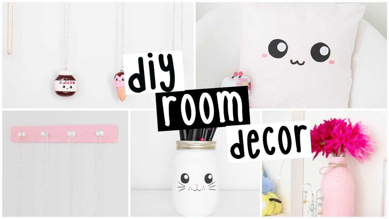 Diy room decor four easy inexpensive ideas youtube for Simple diy room ideas