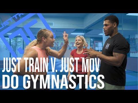 Just Train vs. Just Move at Tumble Tykes Gymnastics   Just-Train TV