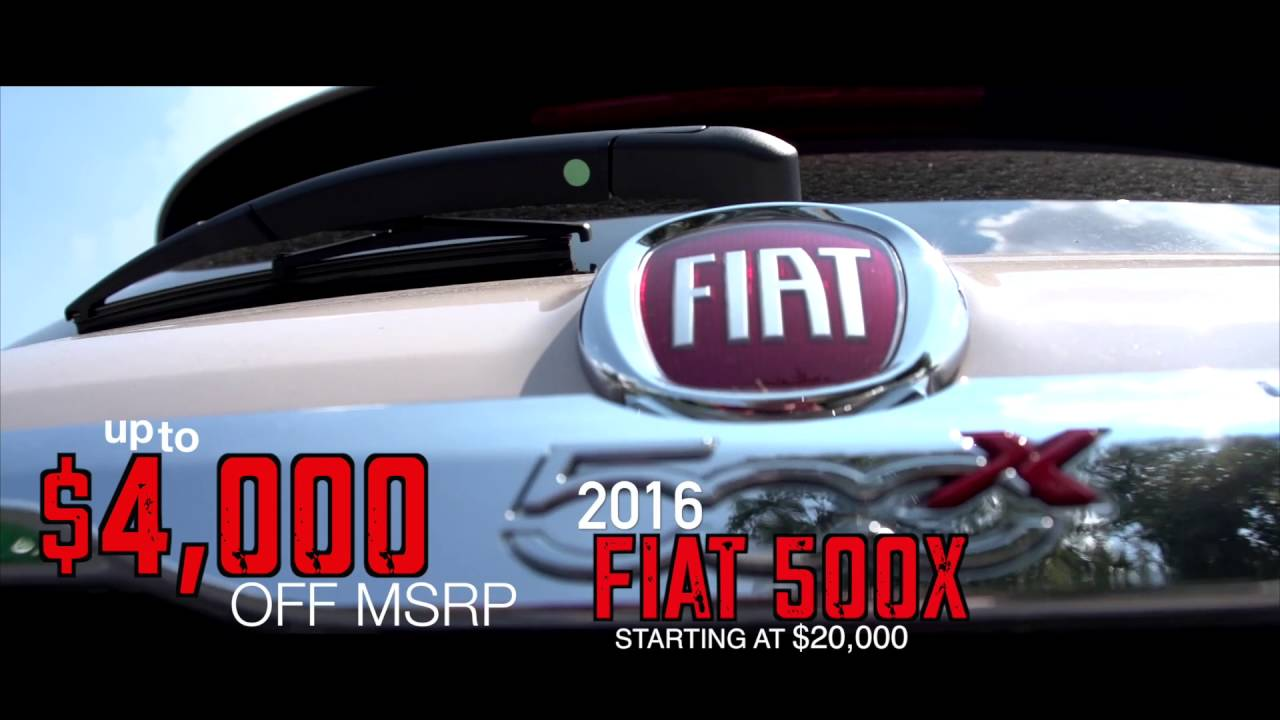 2016 500x up to 4000 off MSRP  Safford FIAT of Tysons Corner