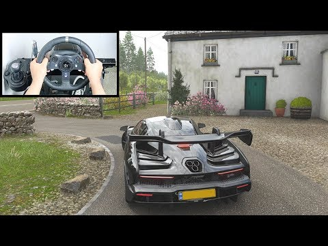 Forza Horizon 4 McLaren Senna (Steering Wheel + Paddle Shifter) Gameplay