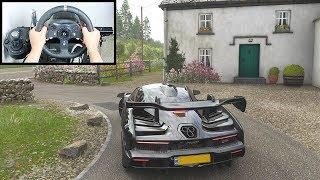 Forza Horizon 4 McLaren Senna (Steering Wheel + Paddle Shifter) Gameplay