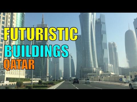Futuristic Alien like buildings in Qatar
