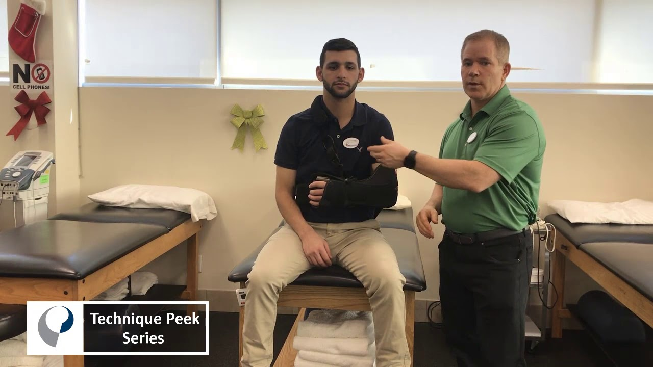 Technique Peek Series - Safely Removing Sling After Shoulder Surgery