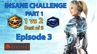 StarCraft 2: Grandmaster 1 vs 2 Diamond Players (Bo5) PART 1 - INSANE Challenge - Episode 3
