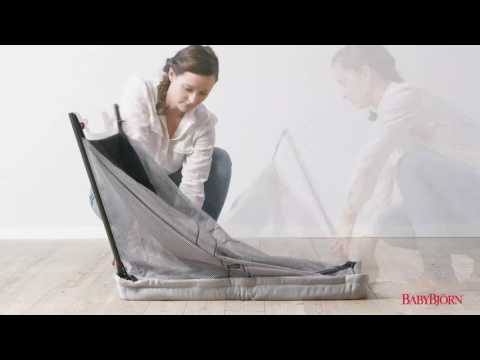 Baby Bjorn - How to fold up Light Travel Cot Option 2