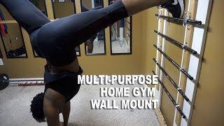 DIY Home Gym Resistance Band & Gymnastics Wall Mount Unit