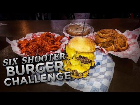 SIX SHOOTER BURGER CHALLENGE IN OKLAHOMA!!