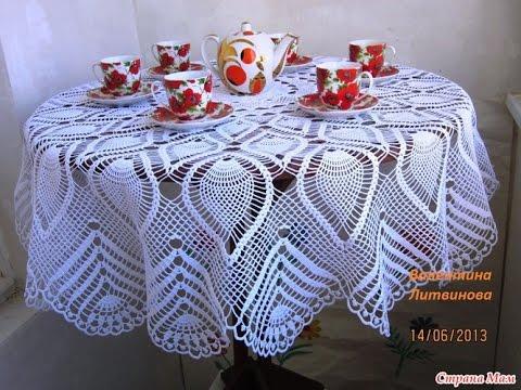 Beginner Crochet Tablecloth Patterns : ???????? ??????? ??? ?????????? - 2017 / Tablecloth ...