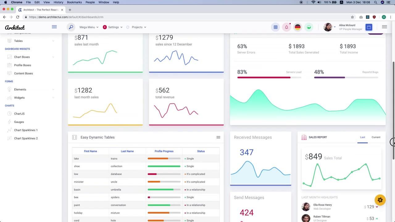 ArchitectUI - HTML & ReactJS Bootstrap 4 Admin UI Dashboard Template