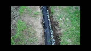 How To Install A Drainage Pipe(http://www.mylifeonthedeck.com provides the steps to install a drainage pipe in your backyard. Includes breaking concrete, digging the trench, putting down ..., 2011-09-18T18:05:38.000Z)