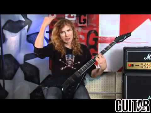 Dave Mustaine - Spider Chord Hand Changes demonstration