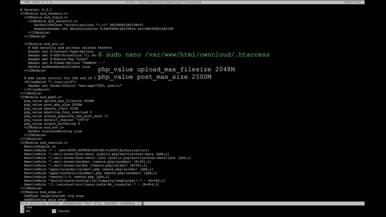 ODROID XU4 - ownCloud Server Installation: III  apache Configuration