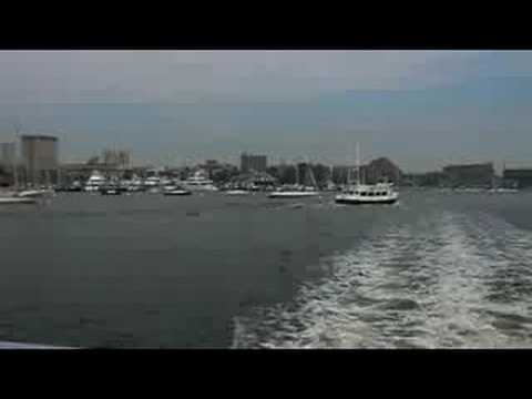 Boston Harbor, skyline...and Godzilla!