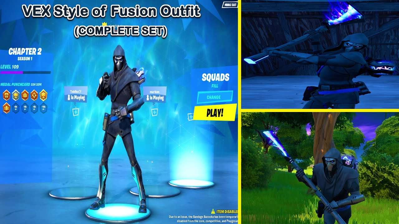 Unlocking Vex Style Of Fusion Outfitskin And Blue Fusion Orb Fortnitespecial Unfused Challenges