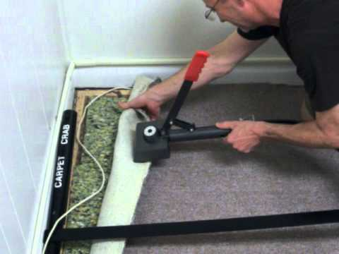 carpet stretcher. how to remove carpet wrinkles with the crab power stretcher