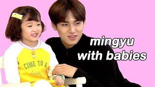 mingyu with babies