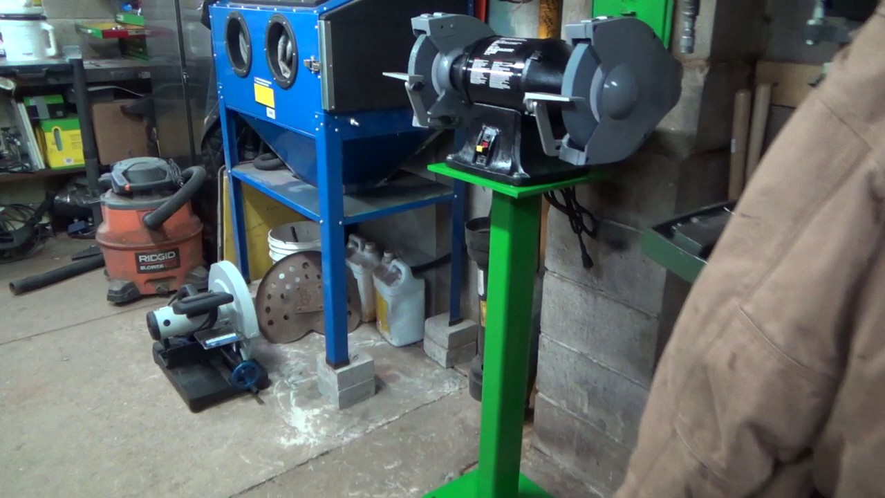 Mounting The New Bench Grinder And Custom Stand Youtube