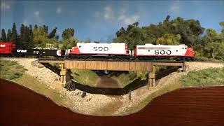 Ken Patterson's HO scale model train layout