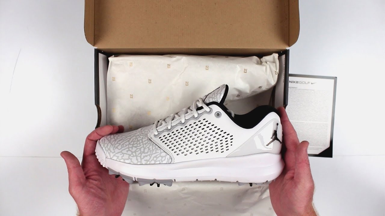 e8b495a9cff7 Jordan Trainer ST G Golf Shoes Unboxing - YouTube