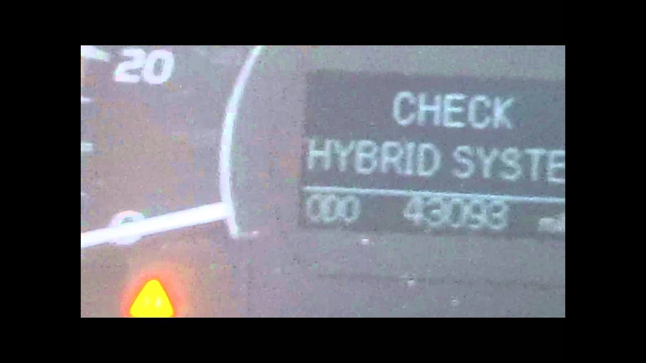 Check Bybrid System On 2017 Toyota Camry 43000 Miles