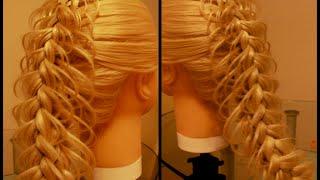 Коса с двойным ажуром  Коса ажурная 3D Видео-урок.