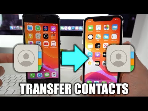 How to Backup Contacts on iPhone 6/6s/7/8/X/XR/11.