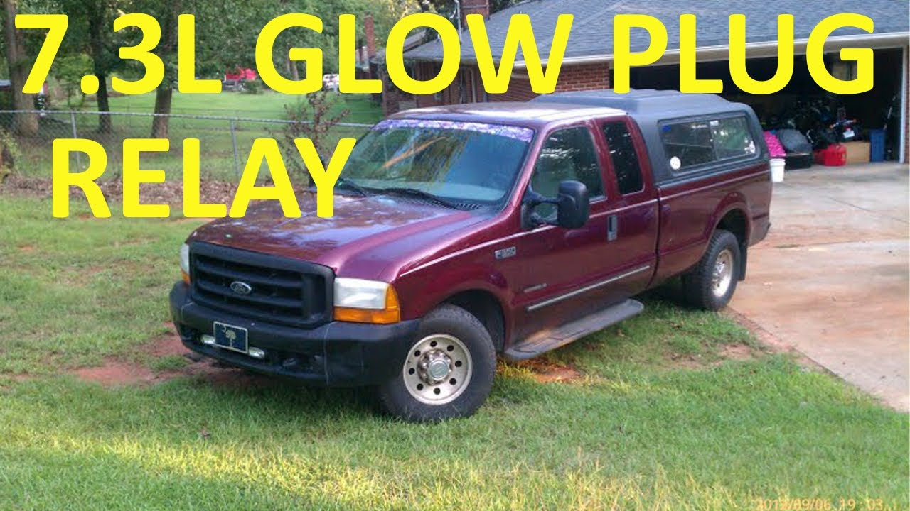 maxresdefault how to test glow plug relay 7 3l ford diesel youtube 7.3L Glow Plug Wiring Diagram at crackthecode.co