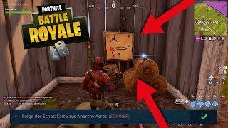 Fortnite - Schatzkarte aus Anarchy Acres - Herausforderung Lösung | Treasure map Challenge