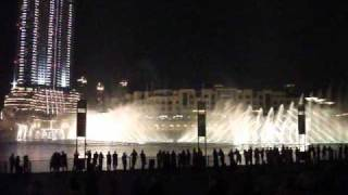 Dubai Fountain. Indian song. 2011-03-19 21:00