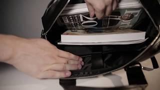 видео Вместительная деловая сумка BRIALDI Lakewood (Лэйквуд) black