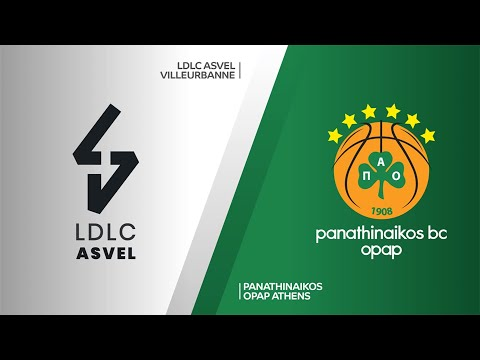 LDLC ASVEL Villeurbanne - Panathinaikos OPAP Athens Highlights | EuroLeague, RS Round 3