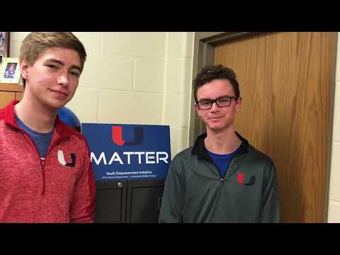 Urbandale High School Students Encourage Middle School Students To Support One Another