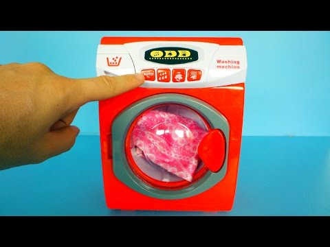 Toy Washing Machine unboxing and Playing - 동영상