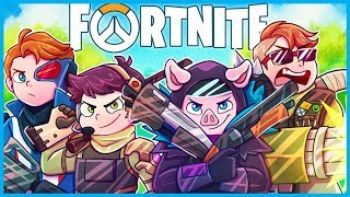 THE OVERWATCH CHALLENGE in Fortnite: Battle Royale! *HARD* (Fortnite Funny Moments & Fails)